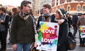 A marriage equality rally in Sydney