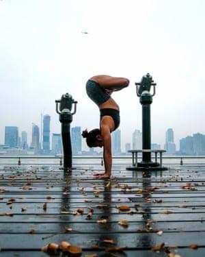 Yoga on the Christopher Street pier