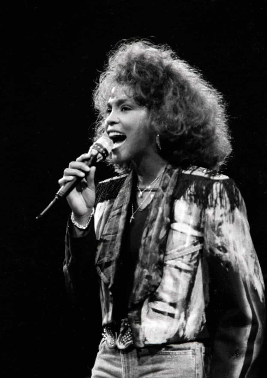 Whitney Houston at the Sydney Entertainment Centre.