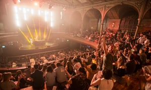 Punters go wild at Bongo's Bingo at Albert Hall in Manchester. The event was photographed as part of the New Review's night special