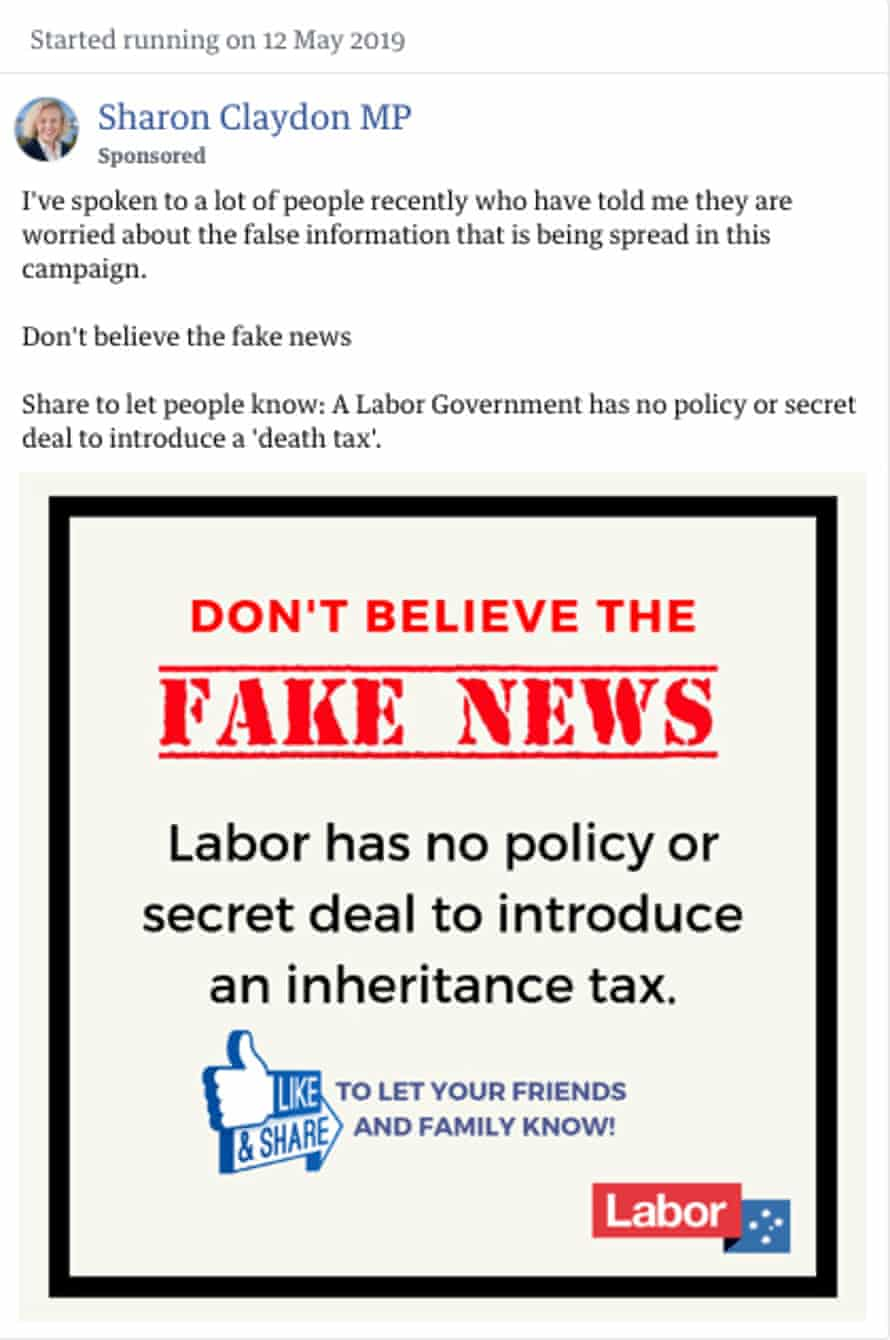 Sharon Claydon ads countering fake news