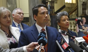 New Zealand opposition leader Simon Bridges