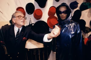 Cardin presents his haute couture autumn/winter 1991-92 collection in Paris