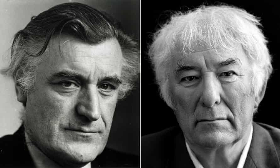 Poetic justice … Ted Hughes and Seamus Heaney were inspired collaborators, but miserly about joint writing. Photograph: Jane Bown/Murdo McLeod for the Guardian and Observer