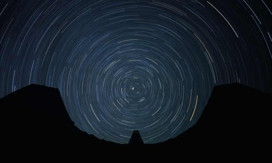 Spinning worlds … the view from Star Axis at night