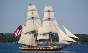 A replica of the 19th-century US brig Niagara.