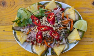 'Brimming with the floral hit of mint and coriander and fresh red chilli': Vietnamese rare beef salad.