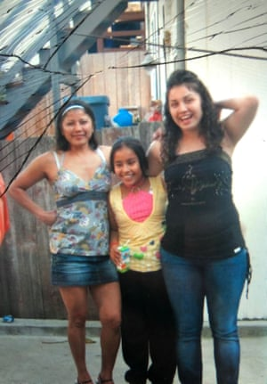 Lucero Herrera, her cousin, and her mother.