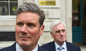 Shadow Brexit secretary, Keir Starmer, and shadow chancellor, John McDonnell, would both campaign against Brexit in a second referendum.