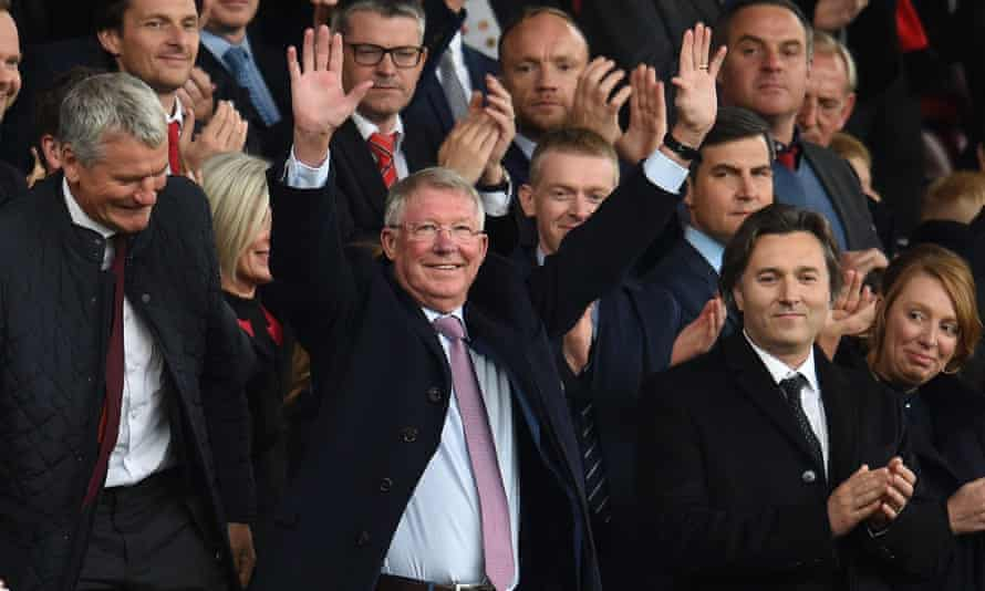 Sir Alex Ferguson received a thunderous reception from Manchester United supporters on his return to the stands at Old Trafford following a period of ill health.