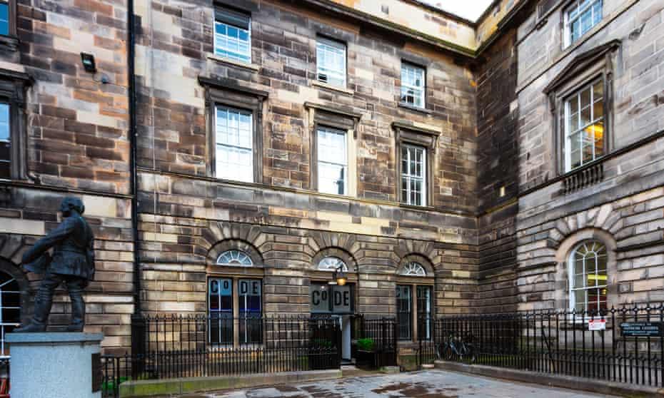 Exterior of Code: the Court hostel, Edinburgh, Scotland, UK.