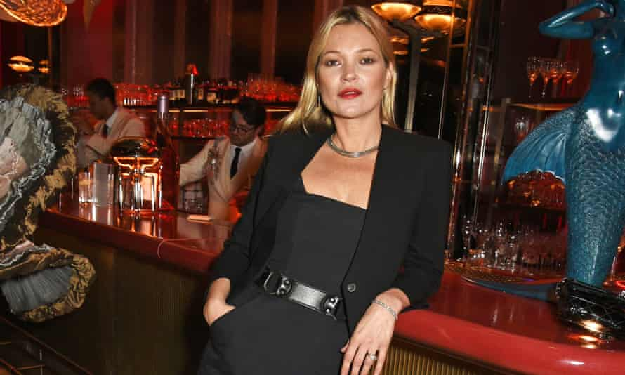 Kate Moss at a recent restaurant launch: 'The cooler an event is, the less likely it is to be on social media.'