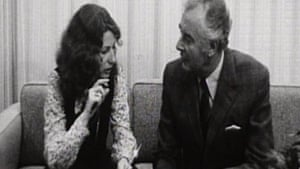 Elizabeth Reid sitting with Gough Whitlam