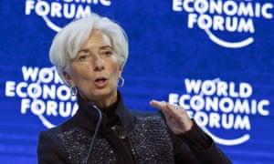 The IMF's Christine Lagarde in Davos