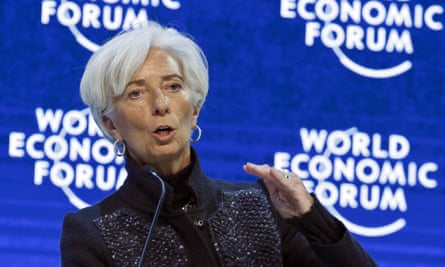 The IMF's Christine Lagarde in Davos