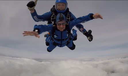 Harry Read during a practice sky dive in September.