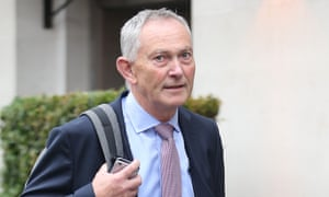 Richard Scudamore walks down the street
