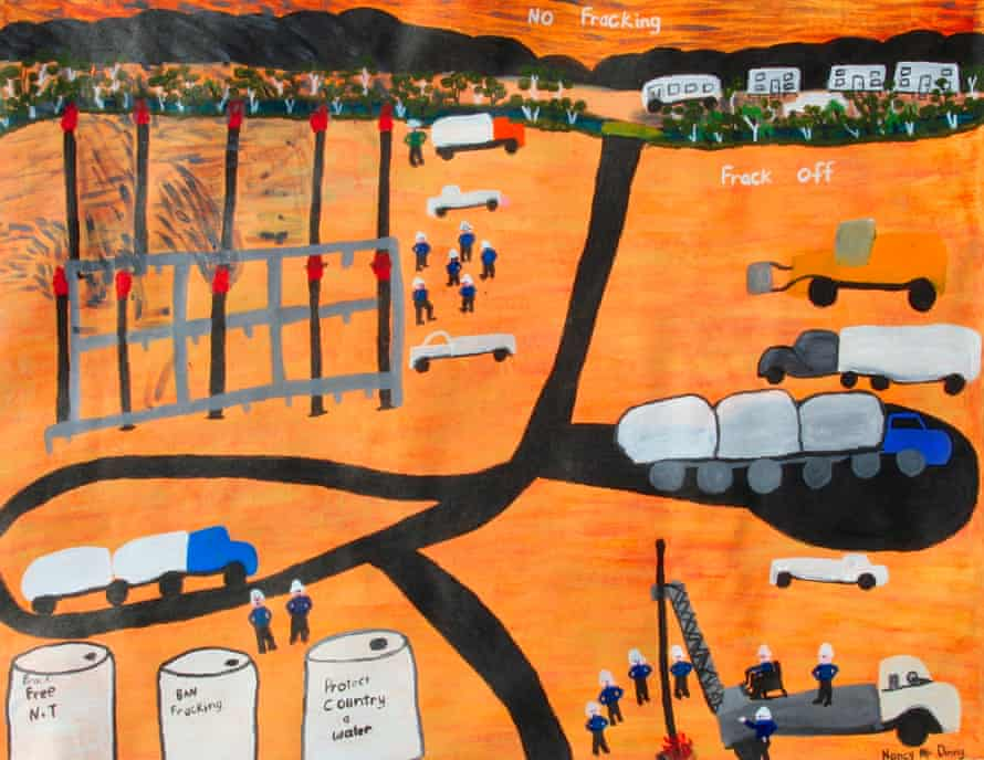 We Say No To Fracking In Our Country by Nancy McDinny