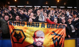 With Wolves seventh in the table, Nuno Espírito Santo is a very popular figure with the club's fans.