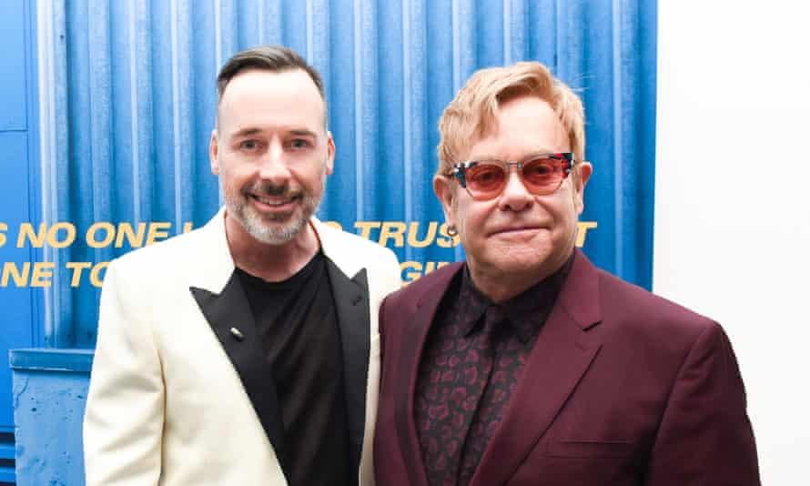 Untitled ... David Furnish and Sir Elton John.