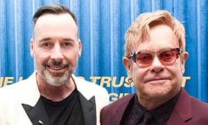 David Furnish, left, and Elton John.