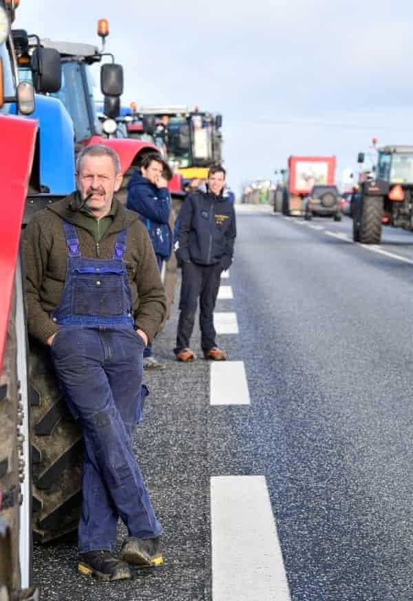 Mink farmers protest in Holstebro in Jutland