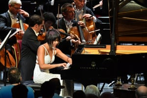 Yuja Wang with the Berlin Philharmonic at the Proms.