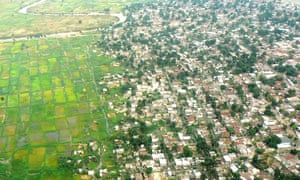 Where the urban sprawl of Kinshasa meets the surrounding countryside.