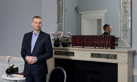 Marcus Weston inside the London Kabbalah Centre