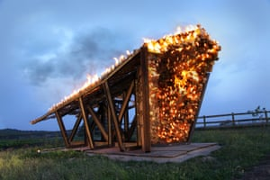 Burning structure by Julia Parkinson