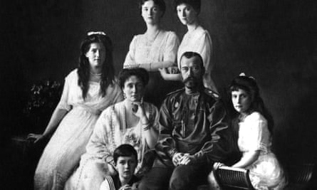Nicholas II, tsar of Russia, with his wife and children.