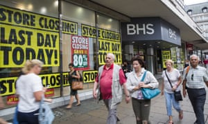 The last day of trading at BHS's flagship store on Oxford Street in central London, 13 August 2016.