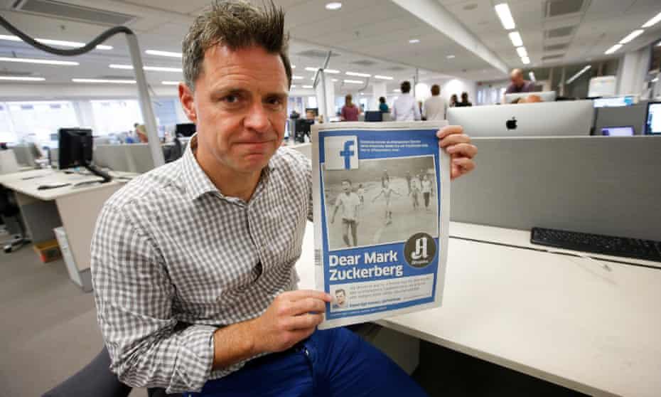 Aftenposten's editor, Espen Egil Hansen, with his open letter to Mark Zuckerberg.