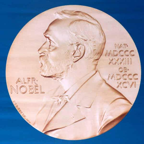 The laureate medal, featuring the portrait of founder Alfred Nobel.