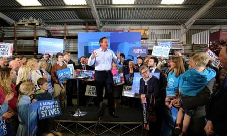 David Cameron during a 2015 general election campaign