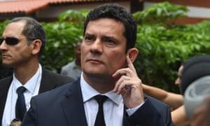 Judge Sérgio Moro leaves the house of the Brazilian president-elect Jair Bolsonaro after a meeting, in Rio de Janeiro on Thursday.