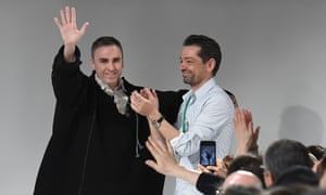 Calvin Klein's chief designer, Raf Simons, left, with creative director Pieter Mulier