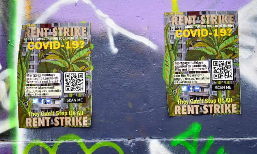 posters calling for rent strike