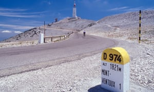 Peak performance: the winding road to the summit of Mont Ventoux.