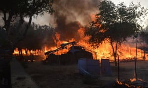Protest camp engulfed by flames in Mathura