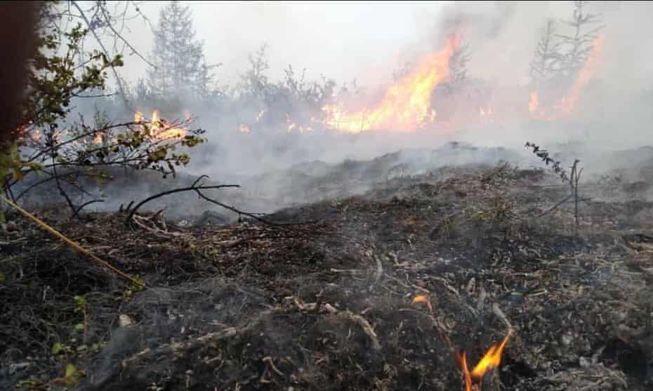 Forest fires in Yakutia, in the north-eastern part of Siberia, Russia