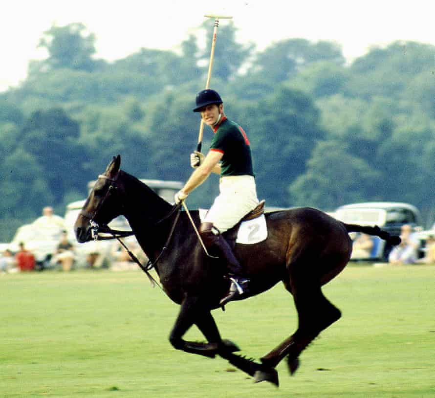 The Duke of Edinburgh playing polo at Smith's Lawn, Windsor Great Park, 1970.