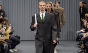 Gvasalia's menswear collection is inspired by office workers, but without the rigidity and coldness of traditional suits.