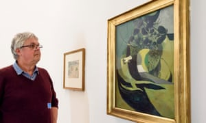 A feel for art … Ken Simons with Graham Sutherland's Entrance to a Lane, from 1939.