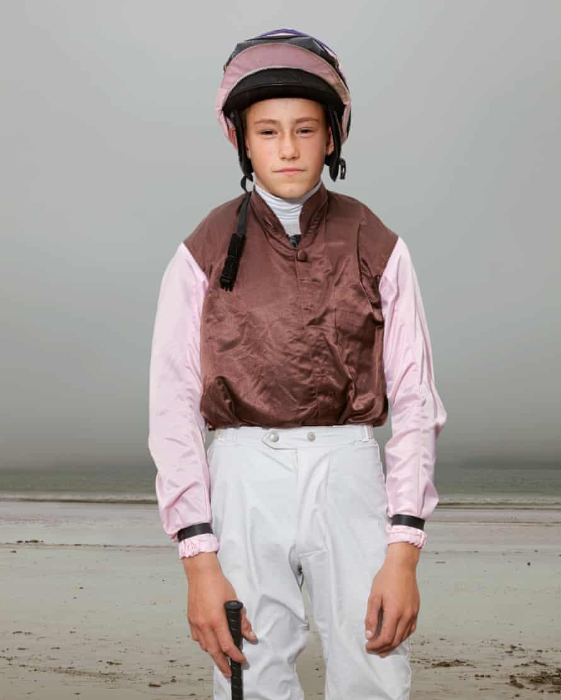 Young jockey Mickey McGuane, 15