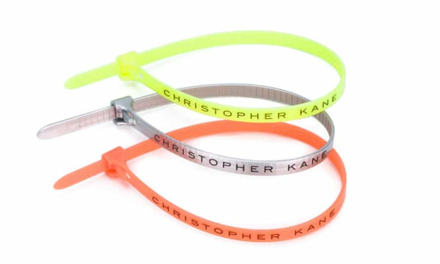 Cable ties, courtesy of Christopher Kane.