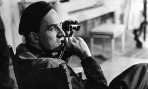 Son of a minister … Ingmar Bergman on set in the 60s.