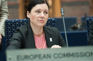 Věra Jourová, the European commissioner for justice and consumers.