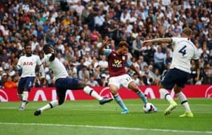 Trezeguet of Aston Villa shoots.