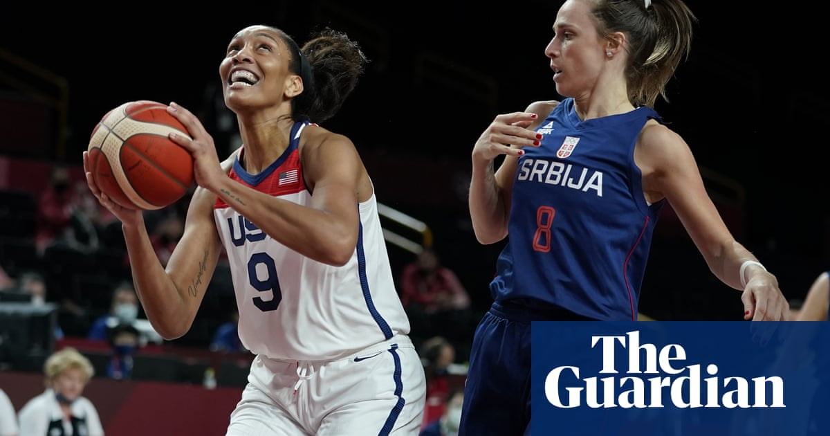 Women's basketball: USA top Serbia to go one win from seventh straight gold